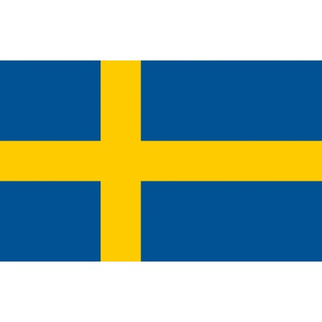 Sweden flag in 100% polyester stamina fabric
