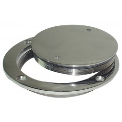 Inspection cap the pond in stainless steel AISI 316, mirror polished