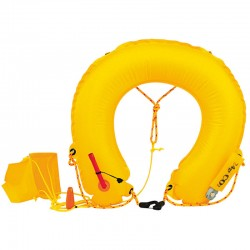 Life buoy inflatable horseshoe-throwing-for the recovery of a man overboard