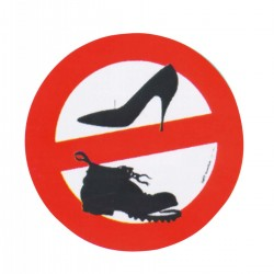 Signs stickers, Prohibition shoes