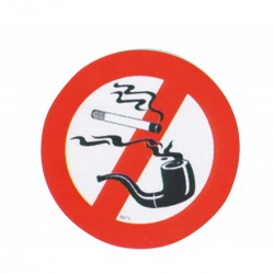 Signs stickers, Prohibition of smoking