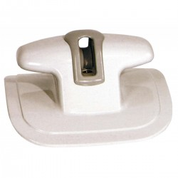 Cleat with pulley for top - Colour grey RAL7035