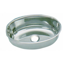 Sink Oval polished stainless steel mirror