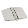 Hinge with cover mm.74x75 semi-recessed pin