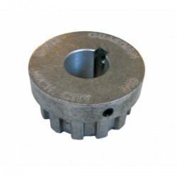 Aluminium support for flexible coupling