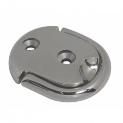 Plate oval in stainless steel AISI 316