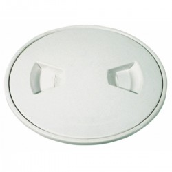 Inspection cap tin white ABS