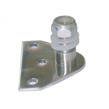 Stainless steel support with self-locking nut for gas springs