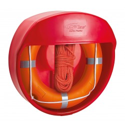 Container protection for lifebuoys