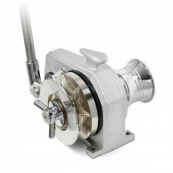 Winch aluminum horizontal axis manual with a bell - Lily