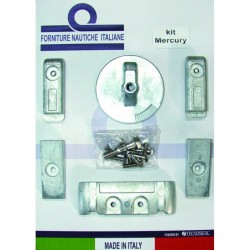 Kit anodes in aluminium for engines Mercury / Verado 6