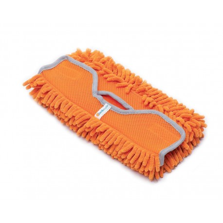 Microfibre pad for cleaning painted surfaces and awnings